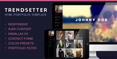 Trendsetter  单页面个人网站模板