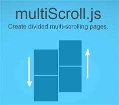 multiscroll.js划分垂直页面滚动插件