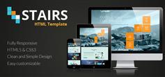 Stairs  响应式企业工作室单页面模板