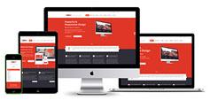 BOOM - 大氣紅色響應式企業官方網站HTML模板