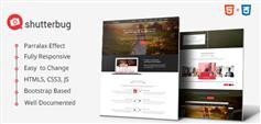 Shutterbug  摄影爱好者html5响应式模板