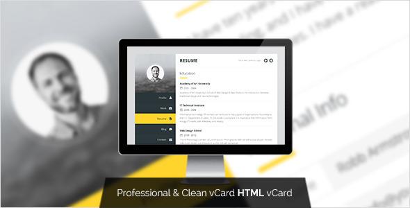 html电子名片简历模板
