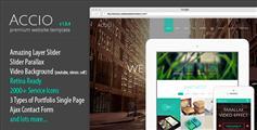Accio - 响应式HTML5单页面网站模板CSS3视差网页UI设计PSD