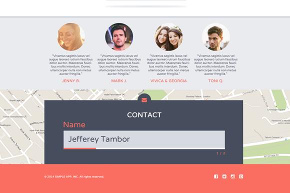 简单的单页面模板