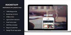 Rocket App - 动画效果很好的Bootstrap响应设计单页面滚动css3动画模板