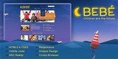 精美幼儿园网站模板 儿童HTML5响应式设计 - BeBe