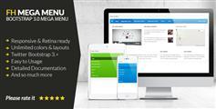 FH Mega Menu - jQuery漂亮的Bootstrap3大型导航菜单