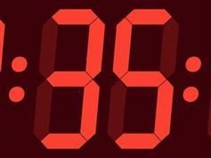 CSS3电子表LED时钟特效