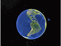 javascript地球卫星同步动画