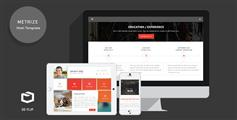Metrize - 响应翻转动画个人网站模板