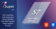 Super 7 - jquery响应图像滑块焦点图插件