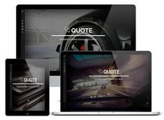 Quote - 效果很炫的响应设计网站模板