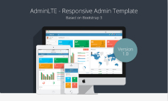 AdminLTE-Bootstrap 3.x優質管理控制面板