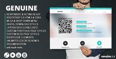 Genuine-HTML5响应Bootstrap3创意模板
