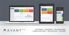 Avant - 整洁响应Bootstrap 3.1管理后台模板
