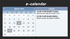 jquery事件日历插件e-calendar