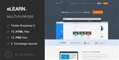 eLearn - 在线播放视频网站HTML5模板
