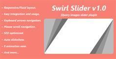 jQuery响应式图片滑块相册插件jQuery多图倾斜切换插件 - Swirl Slider