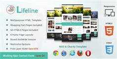 Lifeline非政府组织和慈善机构响应HTML模板