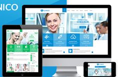 Clinico - 响应式医疗行业网站html模板 医疗手机模板