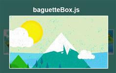baguetteBox-弹出全屏大图带翻页灯箱插件