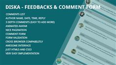 Diska - 纯CSS3制作留言和评论插件 多级留言列表和提交表单