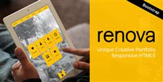 RENOVA - 独特的一个页面的主题响应HTML5