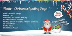 Noelle - 圣诞节HTML5和CSS3网页模板着陆页