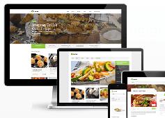 美食网/菜谱网/食品行业HTML5模板