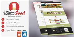 WOW FOOD - 餐饮行业网站HTML模板手机模板