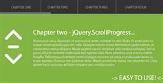 Jquery.ScrollProgress - 单页滚动监控多个部分进度的JQuery插件