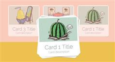 CSS3堆叠卡片展开和收缩动画效果 炫酷图片效果