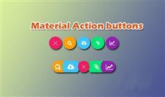 7种Material Design风格圆形菜单按钮展开特效
