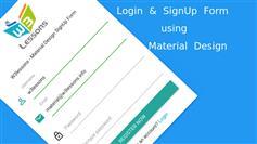 扁平Material风格用户注册登录界面