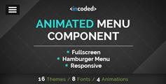 纯Css3全屏动画导航菜单组件Incoded