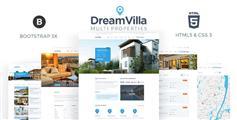 DreamVilla - 房产中介房地产官方网站HTML5模板
