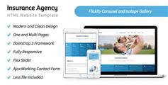 保险公司HTML5模板 Bootstrap3框架企业网站