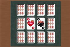 相同两张扑克牌消除小游戏源码