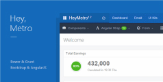 AngularJS管理模板 - Heymtro v1.2