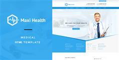 蓝色风格专科医院HTML5网站模板 适用手机端 - Maxi Health