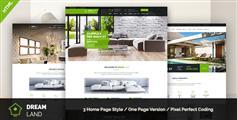 房地产HTML模板 绿色风格 - Dream Land