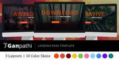 Ganpathi - CSS3动画着陆页模板|单页面视差HTML模板|10种颜色