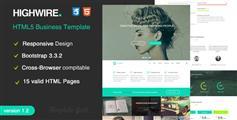 Highwire - 响应式全屏公司网站HTML模板|手机企业网站模板
