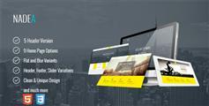 Nadea - 响应HTML5公司网站模板 9种颜色风格