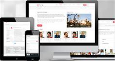 Paperclip - 红色风格Bootstrap模板|移动应用程序|博客|购物|公司