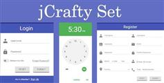 JCrafty Set 一套漂亮的表单插件 登陆注册界面 时钟日历表单