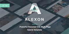 Alexon - 个人网站单页/多页混合HTML5模板