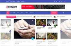 蓝色漂亮大气 新闻网站 博客 响应HTML模板 Bootstrap模板
