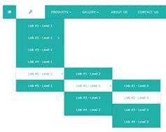 蓝色简约的纯CSS3导航菜单 响应式带动画效果