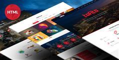 红色大气HTML5企业商务网站单页面滚动模板